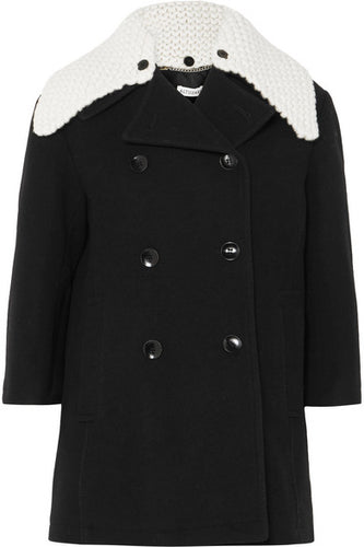 ALTUZARRA - Daly Black Wool Pea Coat