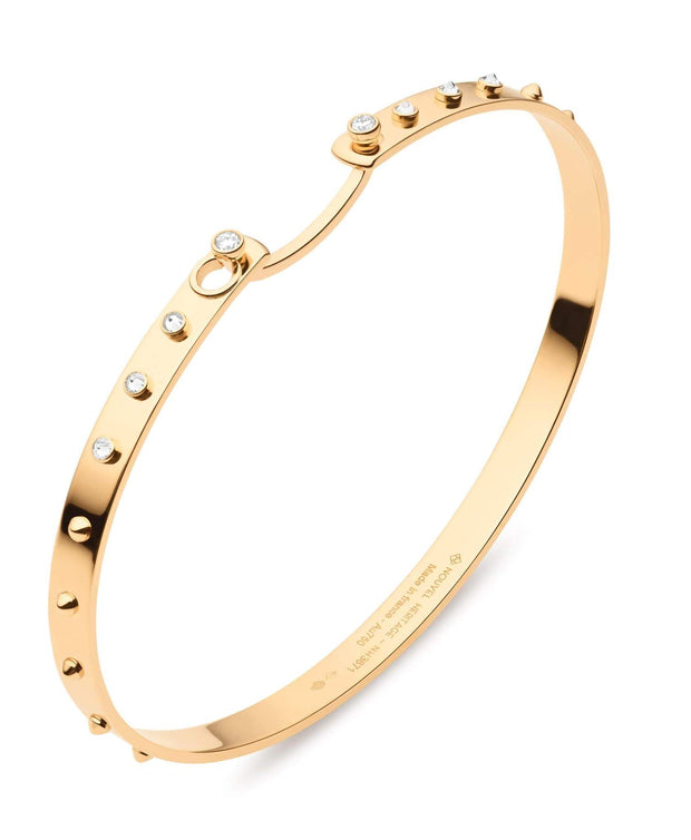 Mood Diamond Brunch in NY Bangle in Yellow Gold