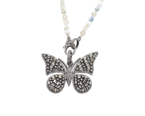 KAR-BN - Butterfly Beaded Chain Necklace