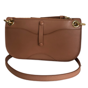 Tess Mini Crossbody Pouch in Muted Brown