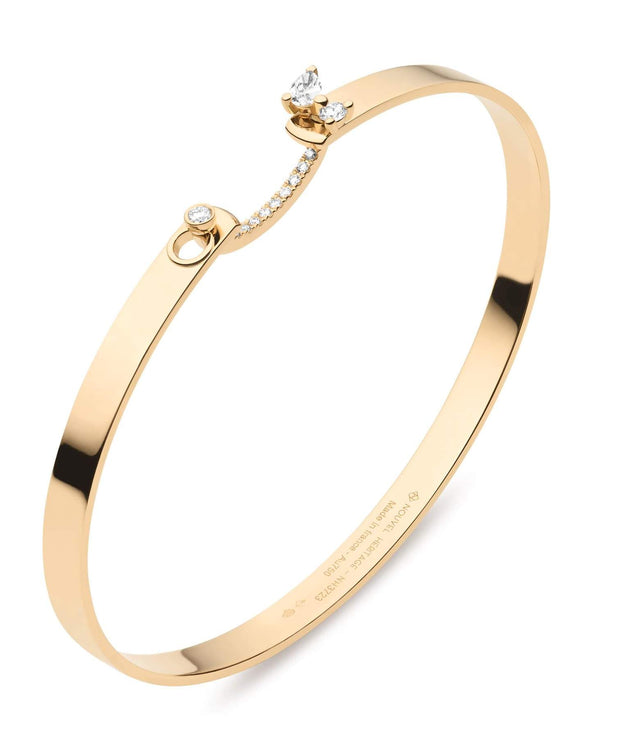 Mood Diamond Cocktail Time Bangle in Yellow Gold