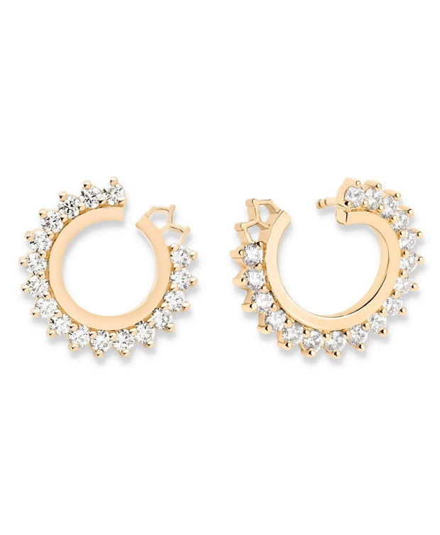 Vendome Round Diamond Earrings