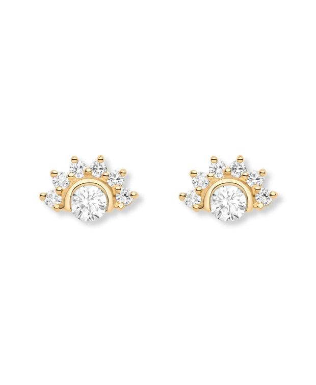 Mystic Diamond Stud Earrings (Pair) in Yellow Gold