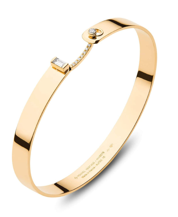 Mood Diamond Dinner Date Bangle in Yellow Gold