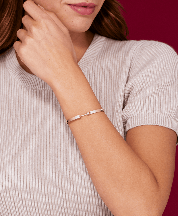 Mood Diamond Dinner Date Bangle in White Gold