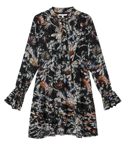 DEREK LAM 10 CROSBY - Printed Long Sleeve Dress