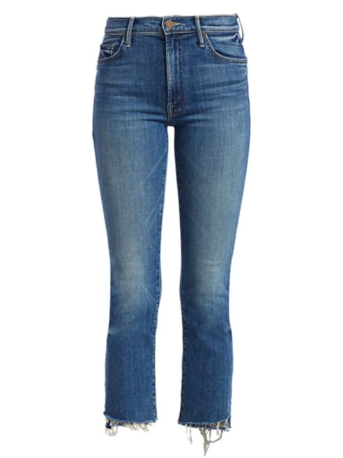 MOTHER - Insider High-Rise Step Fray Cropped Jeans