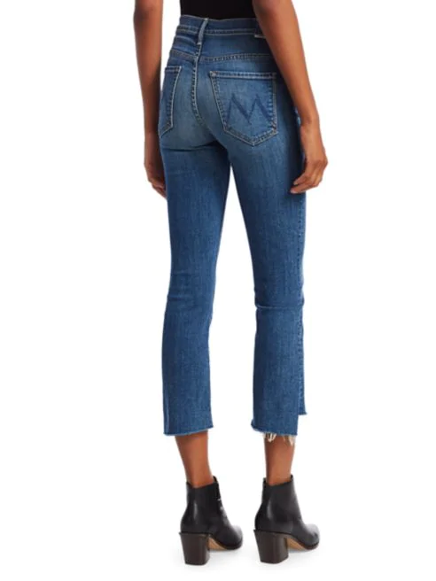 Insider Crop Step Fray Denim