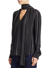 Visage Metallic Stripe Top