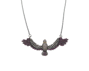 KAR-BN - Slim Wing Beaded Chain Necklace