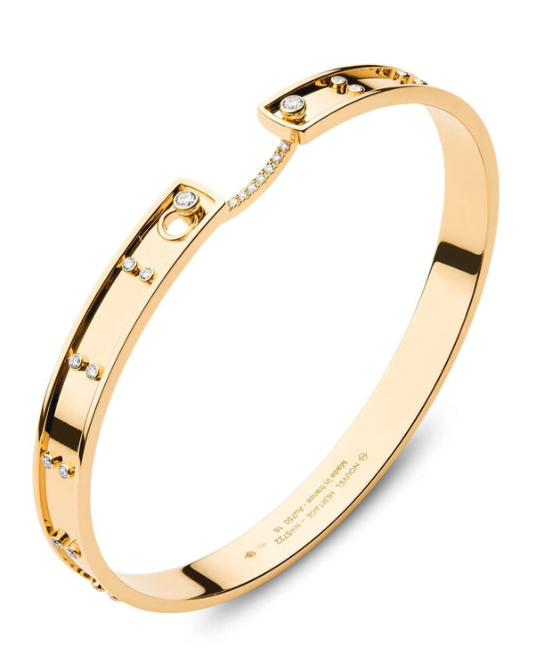 Mood Diamond Picnic in Paris Bangle in Yellow Gold