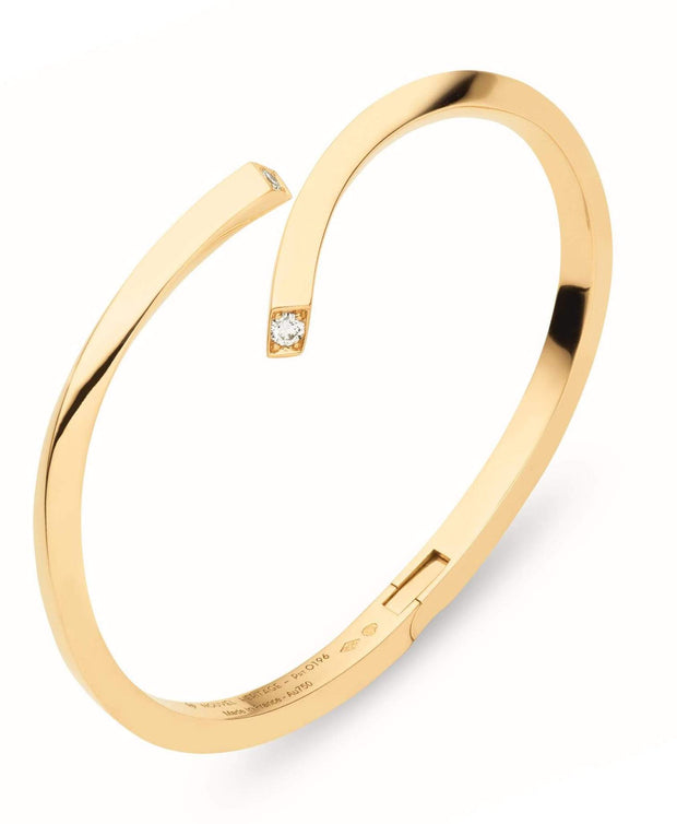 Thread Gold Bangle in Yellow Gold