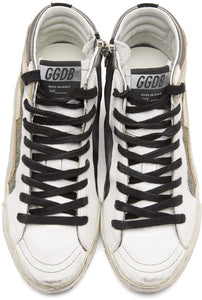 GOLDEN GOOSE - Gunmetal Slide Hi Top