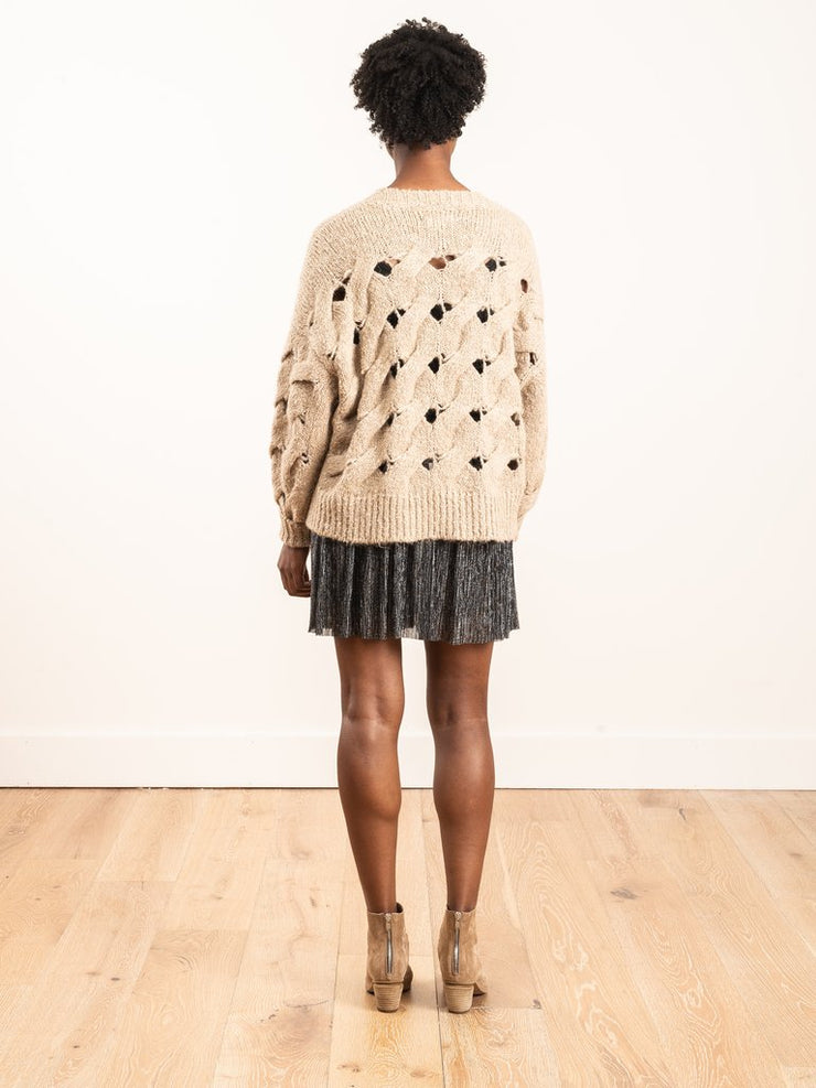 Sesley Open Weave Log Knit