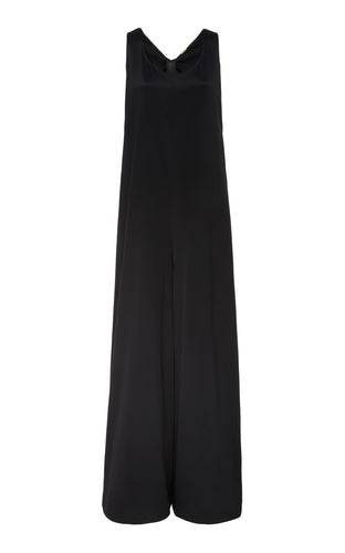 ADAM LIPPES - Knot Back Slouchy Satin Jumpsuit