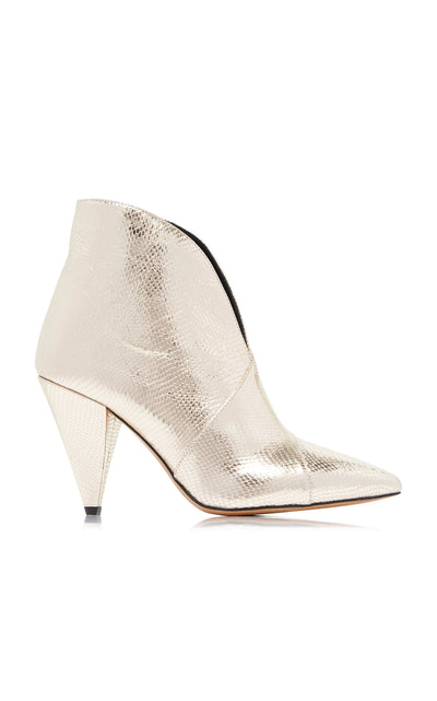ISABEL MARANT - Archenn Metallic Gold Leather Boots