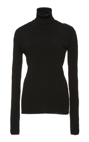 PROENZA SCHOULER - Ribbed Sweater with Button Back