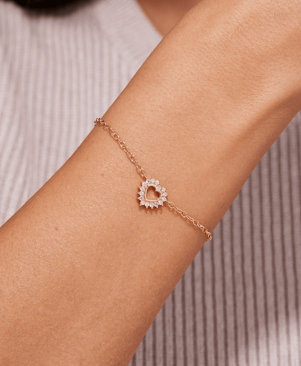 Mystic Medium Love Bracelet in Rose Gold
