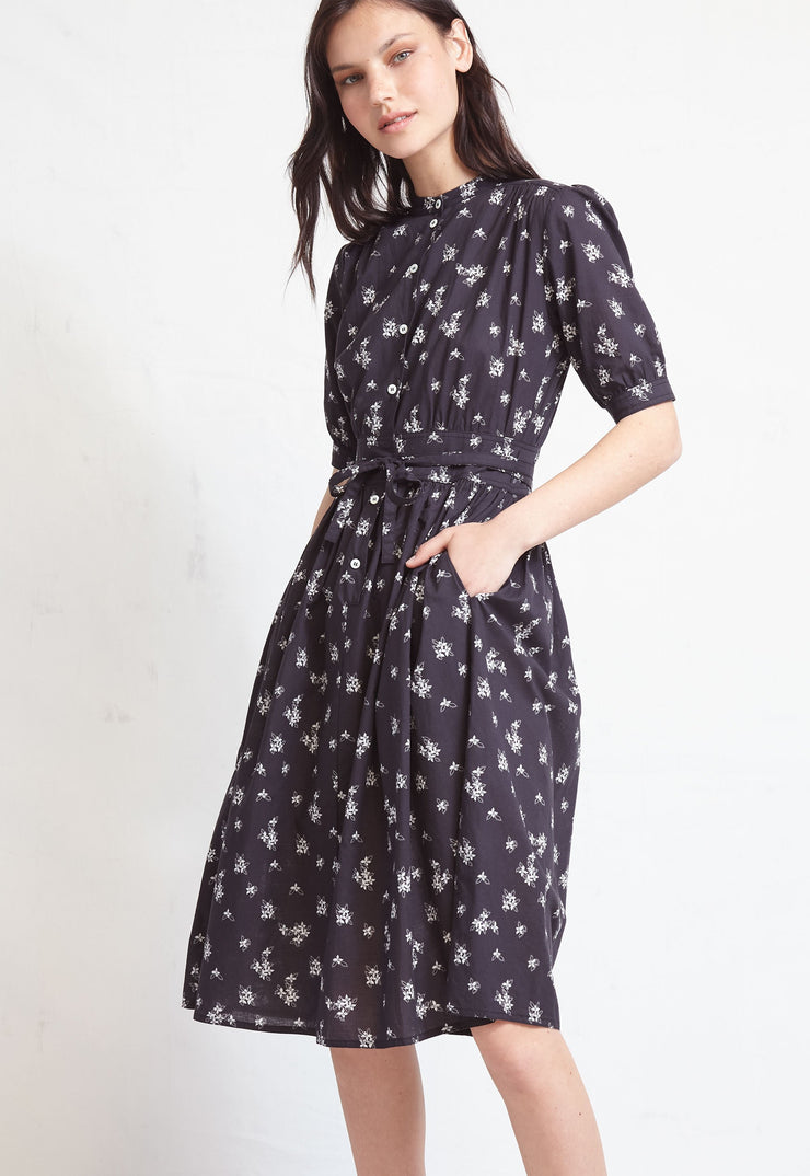 WARM - Montessori Black Print Dress