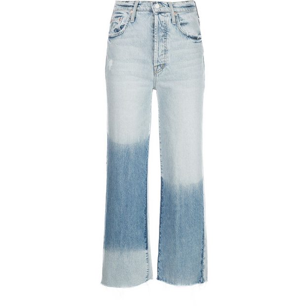MOTHER DENIM - Rambler Two Tone Ankle Fray