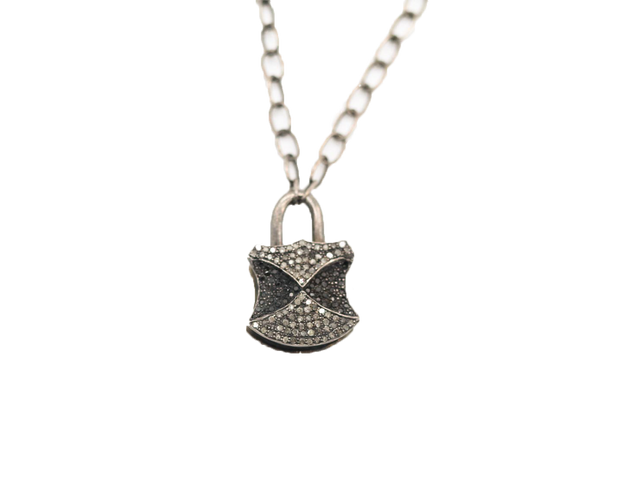 KAR-BN - Diamond Padlock Necklace