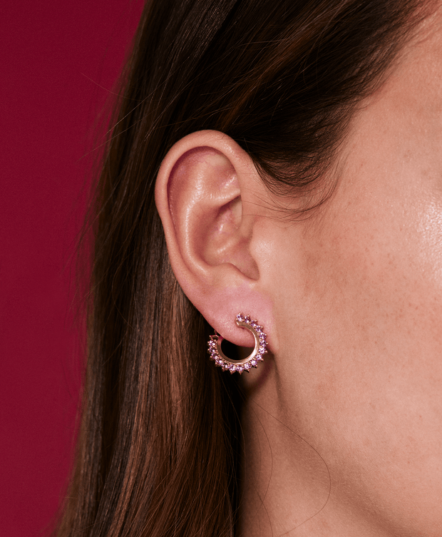 Vendome Pink Sapphire Earrings