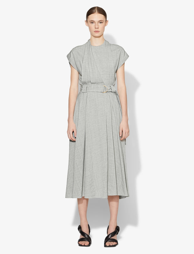 LIGHT WEIGHT SS WRAP DRESS