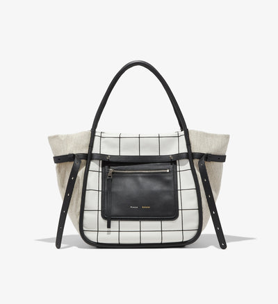 Inside Out Tote Plaid