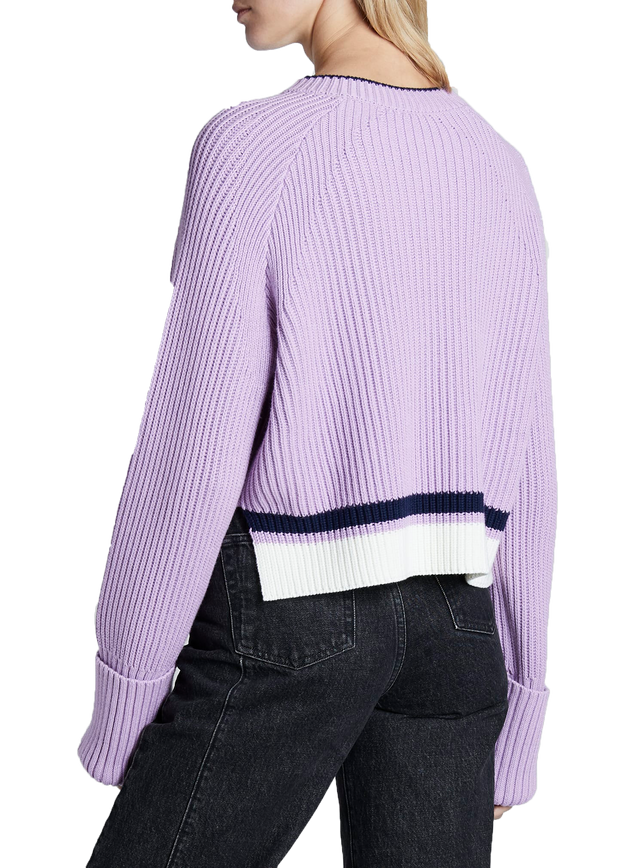 Mauve & Navy Knit Pullover