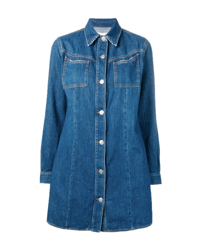GANNI - Sagamore Denim Shirt Dress