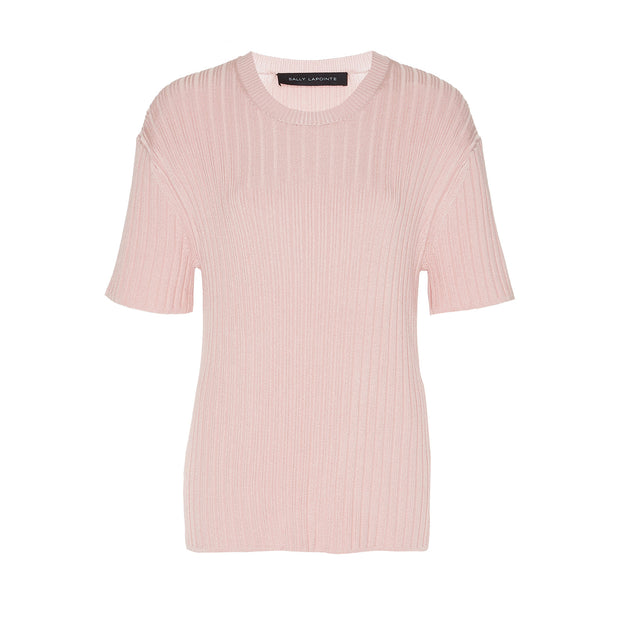 Shiny Viscose Ribbed Tee