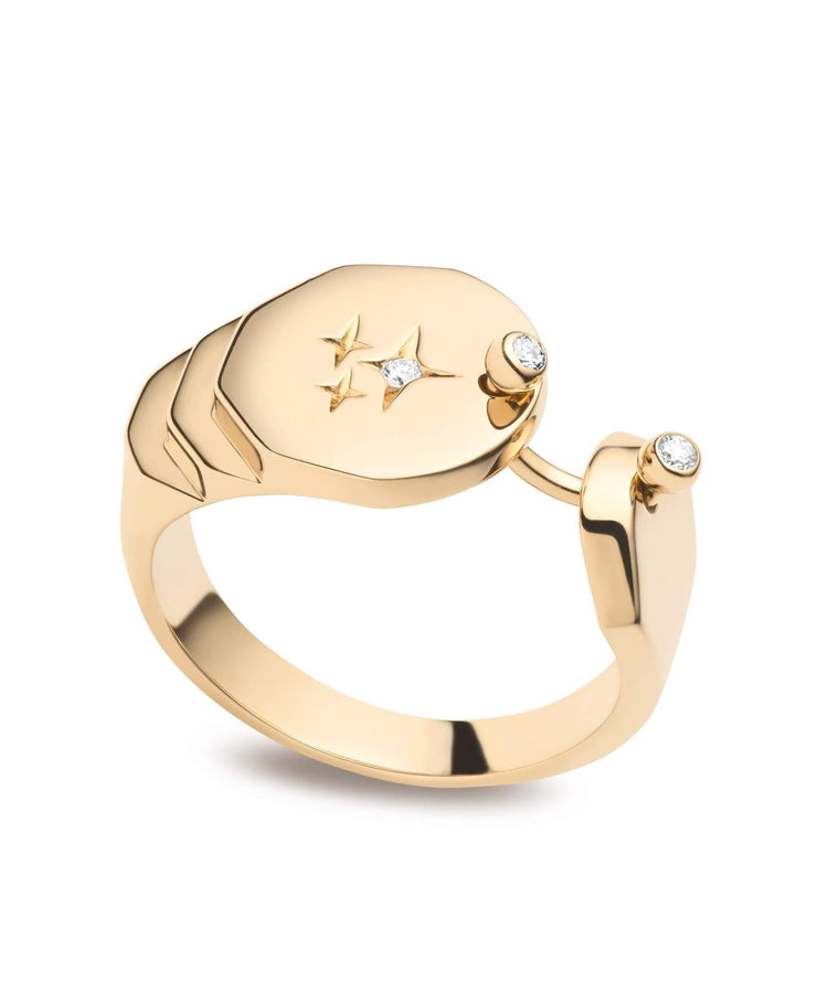 Signet Sparkles Gold Ring