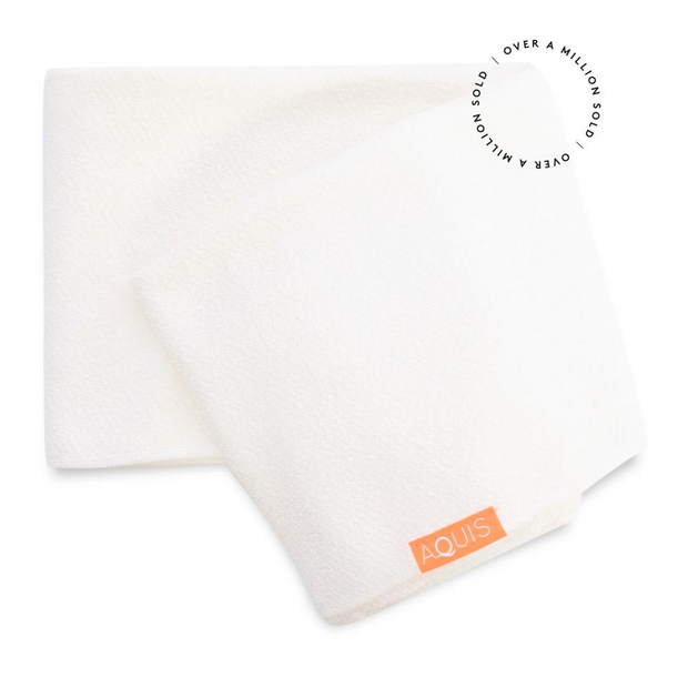 Rapid Dry Lisse Hair Towel - Ivory White