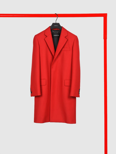Long Red Overcoat