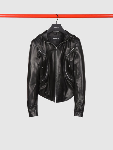 BARBARA BUI - Hooded Leather Jacket
