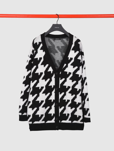 BARBARA BUI - Wool and Cashmere Houndstooth Cardigan