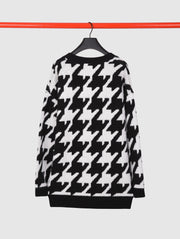 Wool and Cashmere Houndstooth Cardigan