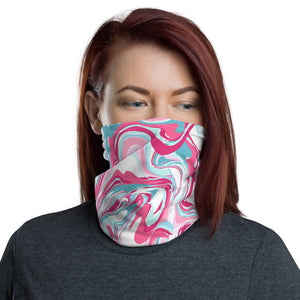 """Pink Swirl"" Wraparound Face Mask"