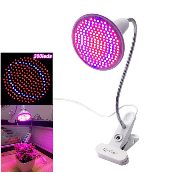 200 LED Plant Grow Light 360 Desk Clip - The Rugged Few