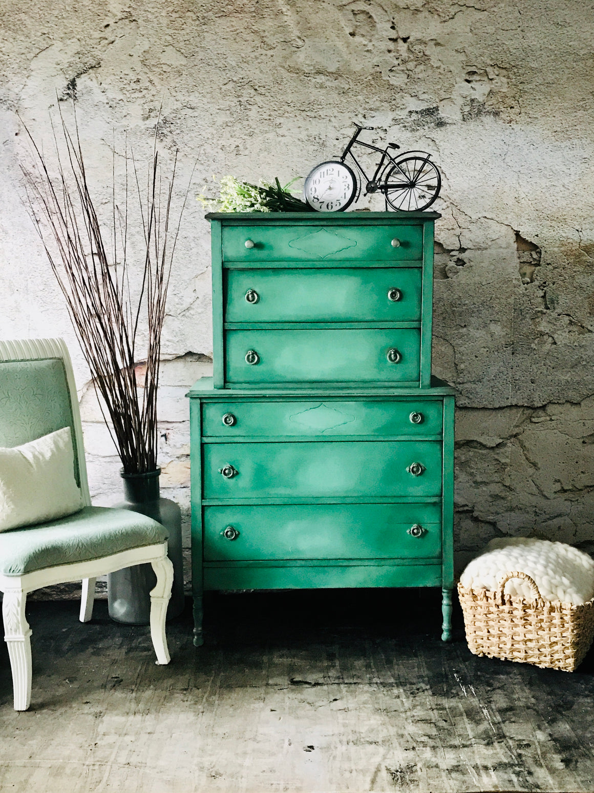 Reclaimed Heirloom's:  Super Tall Boy 6 Drawer Dresser