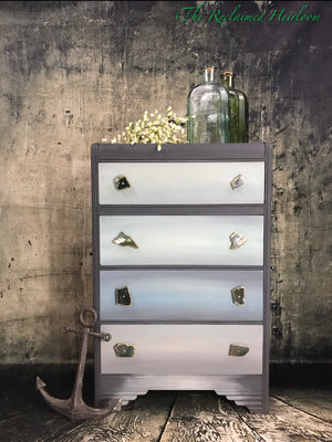 Reclaimed Heirloom's: Davis Bay Storm- 4 Drawer Dresser
