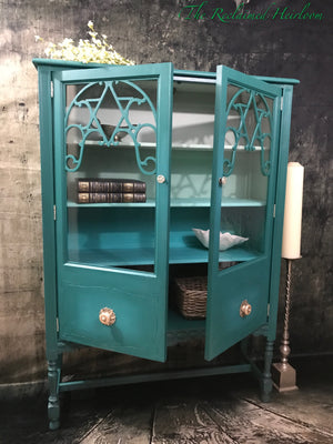 Reclaimed Heirloom's: Caribbean Dream China Cabinet