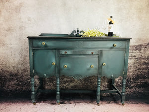 Reclaimed Heirloom's: Antique Dinning Side Board Hutch
