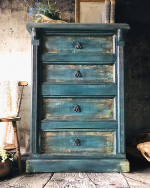Reclaimed Heirloom's: Boho Tall Boy 4 Drawer Dresser