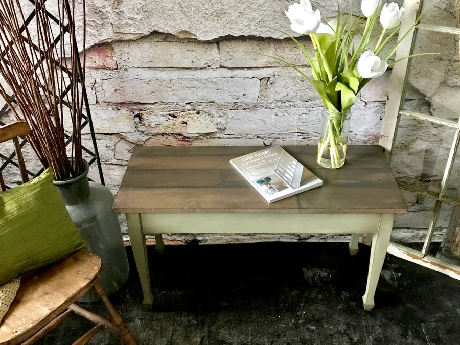 Reclaimed Heirloom's: Faux Wood Plank Coffee Table
