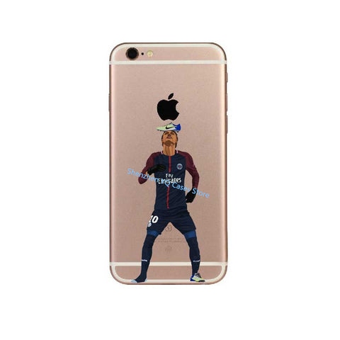 Messi Soccer player Neymar Cristiano ronaldo Mo Salah phone case For iPhone 6 6S 7 7Plus 8 8 Plus Soft silicone Cover Coque