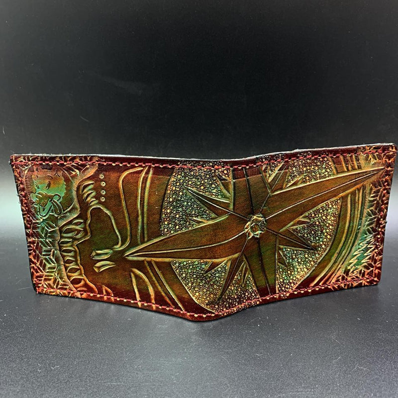 Carved Leather Bifold Wallet-Stealies