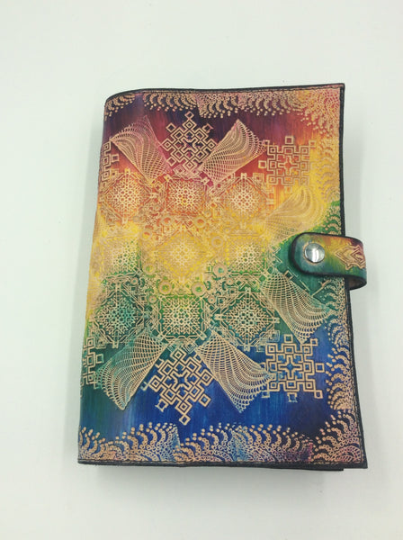 Stamped Leather Journal- Geometric Mandala