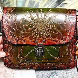 Stamped Leather Messenger Bag/Large Purse- Miscellaneous Designs