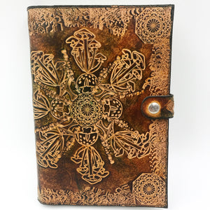 Stamped Leather Journal- Mushrooms